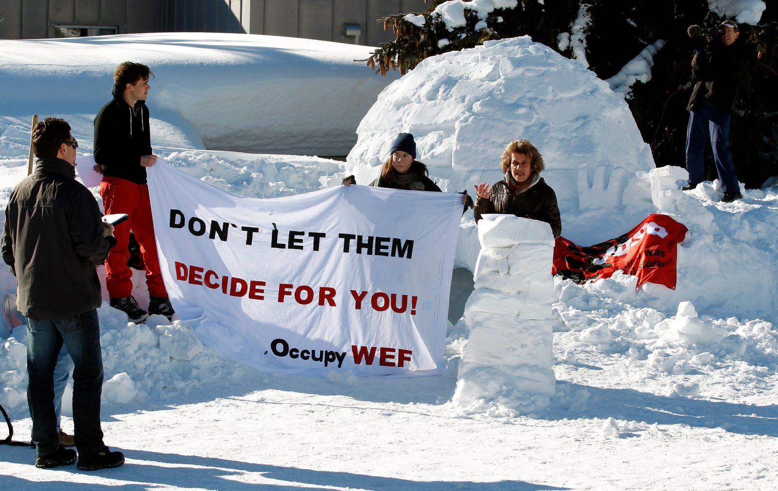 Schweiz / Davos / Iglu / Proteste / Occupy WEF