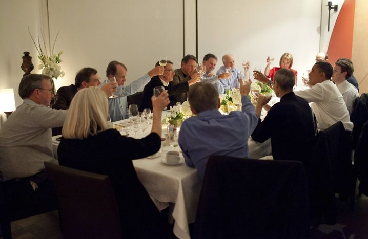 Tech-Gipfel 2011: US-Präsident Obama an einem Tisch mit Jobs, Zuckerberg, Schmidt und Co.