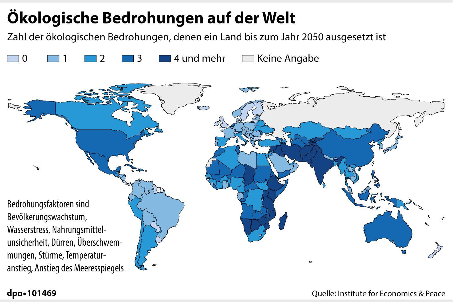 Ökologische Bedrohungen auf der Welt