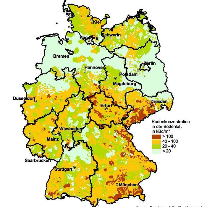 radonbelastung deutschland karte Gefährliche Radon Strahlung: Der Tod aus der Toilettenschüssel