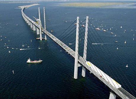 Verbindung nach Süden: Die Brücke über den Öresund