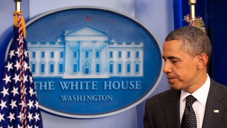 """US-Präsident Obama: """"Mit ihrer Ablehnung von höheren Steuern für Reiche haben die Republikaner einen Kompromiss unmöglich gemacht"""""""