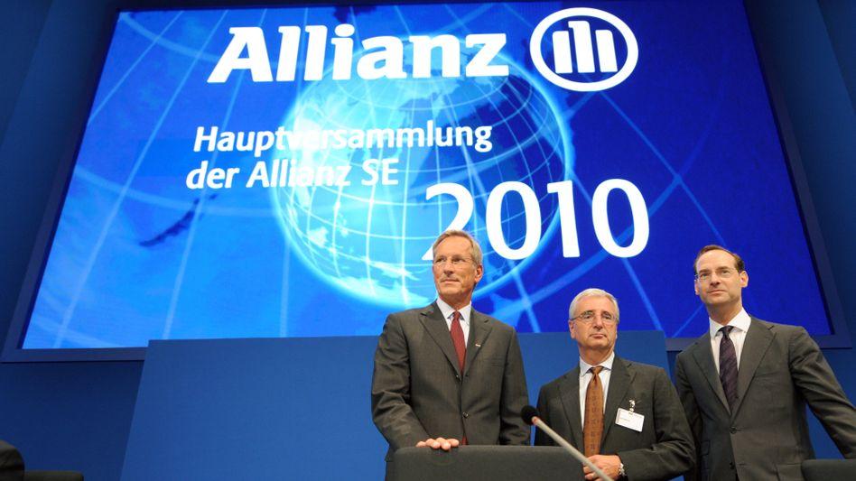 Allianz-Hauptversammlung 2010: Ende 2011 schrumpft der Vorstand von zehn auf neun Personen