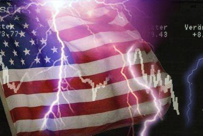 Crash-Gefahr: Das Risiko steigt, je unsicherer die Wirtschaftslage in den Vereinigten Staaten ist.