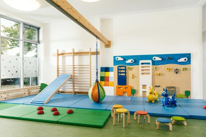Turnraum einer geschlossenen Kindertagesstätte (Archivfoto)
