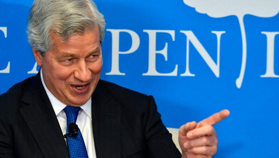 Läuft? Läuft ganz gut: JP Morgan Chef Jamie Dimon ist inzwischen Dollar-Milliardär