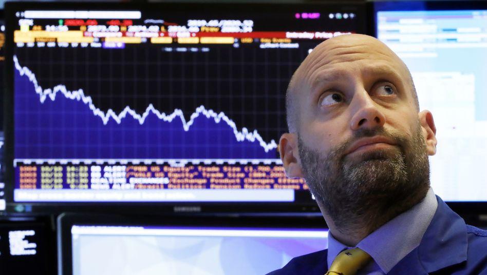 Händler an der US-Börse: Negative Zeichen von der Zinsfront.