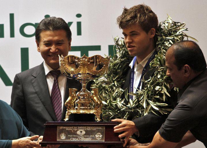 Magnus Carlsen nach dem Gewinn der Weltmeisterschaft 2013.