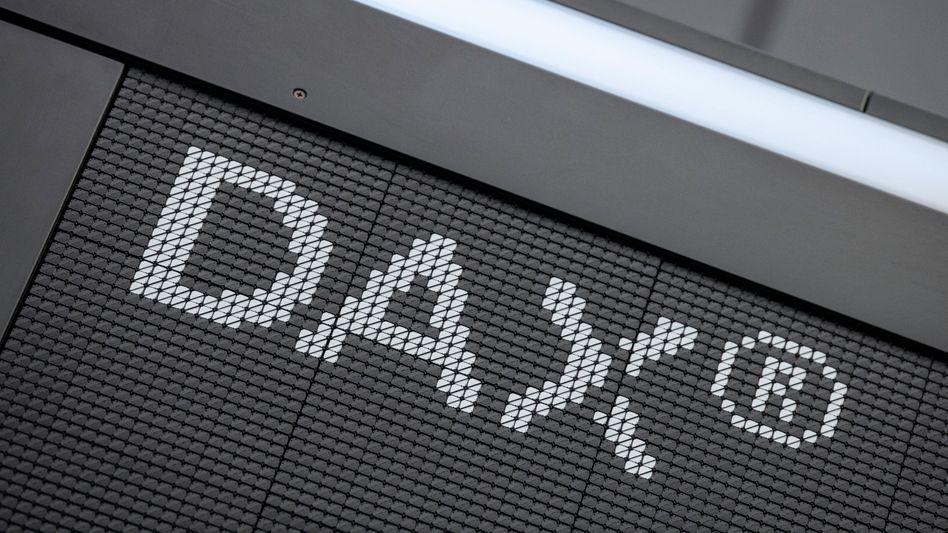 Dax-Tafel in Frankfurt