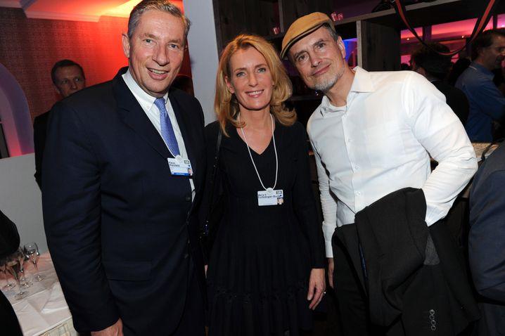 Davos Man: Alcoa- bzw. Arconic-Chef Klaus Kleinfeld auf einer der Partys des Weltwirtschaftsforums 2016
