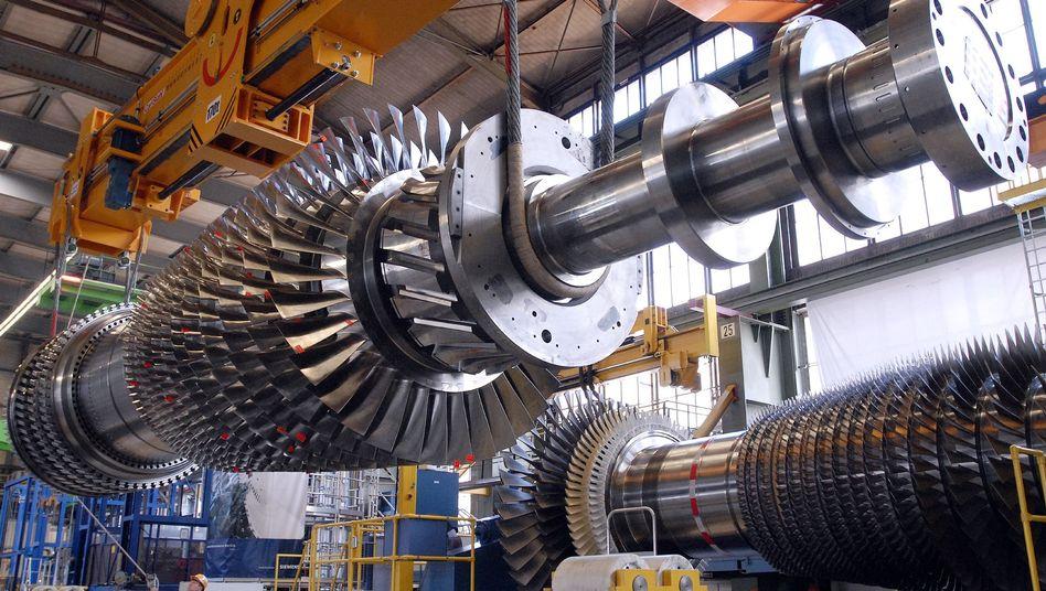 Kraftwerksturbine von Siemens: Produktionskosten steigen wegen zunehmender Inflation