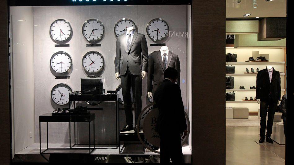Hugo-Boss-Laden in Indien: Die Strategie, das Geschäft stärker auf mehr eigene Läden zu lenken, geht offenbar auf
