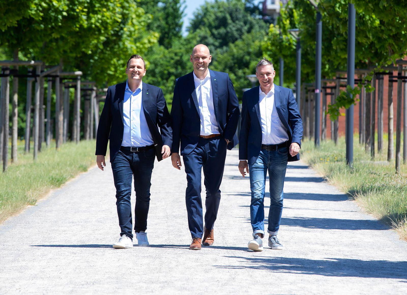 Florian Stäwen, CFO/ Jan Schriewer, CEO/ Thomas Lesser, Geschäftsführer / Green IT