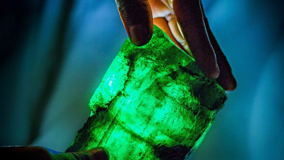 """Doppelt so groß wie der größte jemals gefundene Diamant: der """"Löwen-Smaragd"""""""