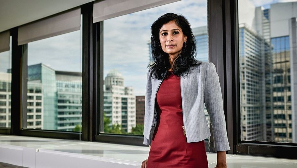 Weltökonomin:Die indischstämmige Harvard-Professorin und FinanzmarktexpertinGita Gopinathist seit Anfang 2019 Chefökonomin des IWF