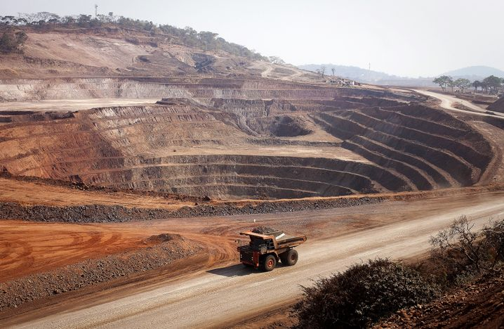 Kupfer- und Kobaltmine von Glencore in Mutanda/Kongo.