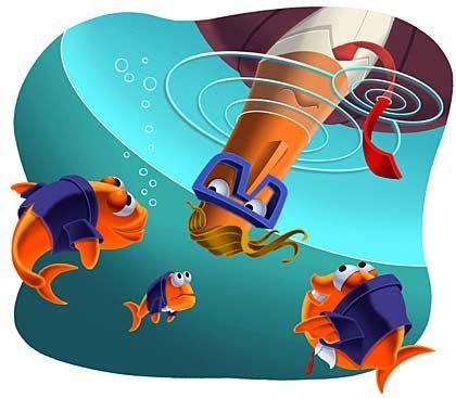 Fischen im Goldfischteich: Viele Firmen haben die Potenziale ihrer besten Mitarbeiter bislang sträflich vernachlässigt