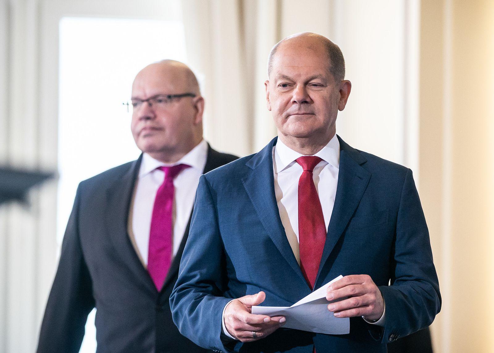 Pressekonferenz zu Konjunkturprogramm