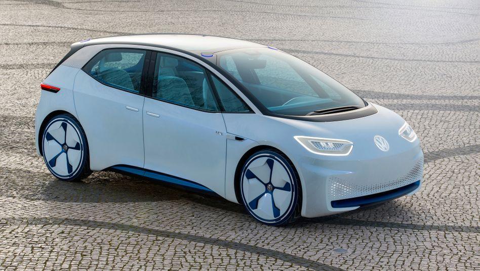 Prototyp des VW-Elektroautos ID Neo: Der Wagen soll in der Herstellung komplett CO2-neutral sein
