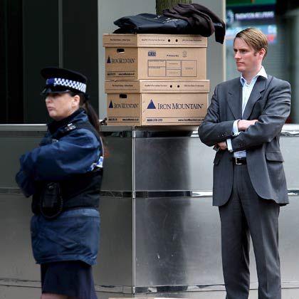 Vergangenheit: Entlassener Mitarbeiter der US-Bank Lehman Brothers