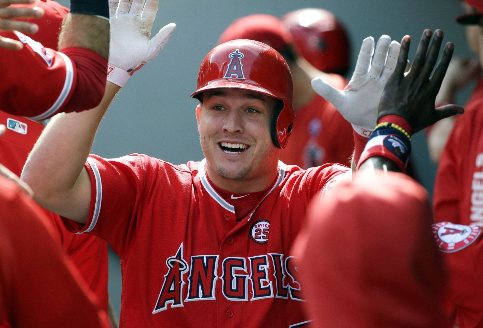 Angels-Trout Baseball