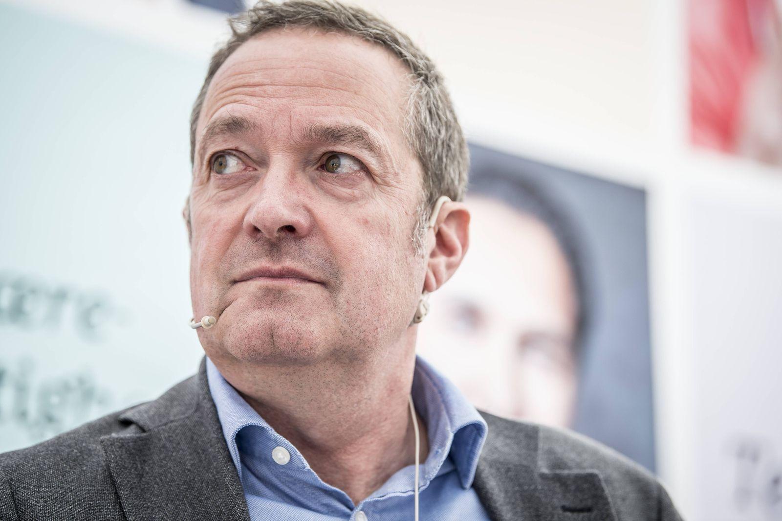 Chris Vogelzang administrerende direktoer i Danske Bank i Allinge paa Bornholm under Folkemoedet 201