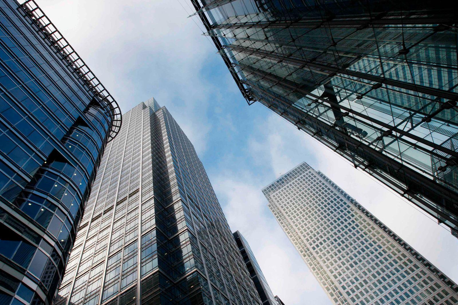 Großbritannien / London / Finanzdistrikt / Bankenhochhäuser