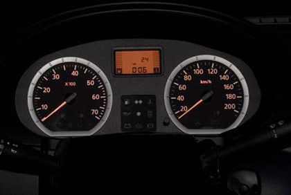 Tacho vorhanden: Instrumententafel des Dacia Logan