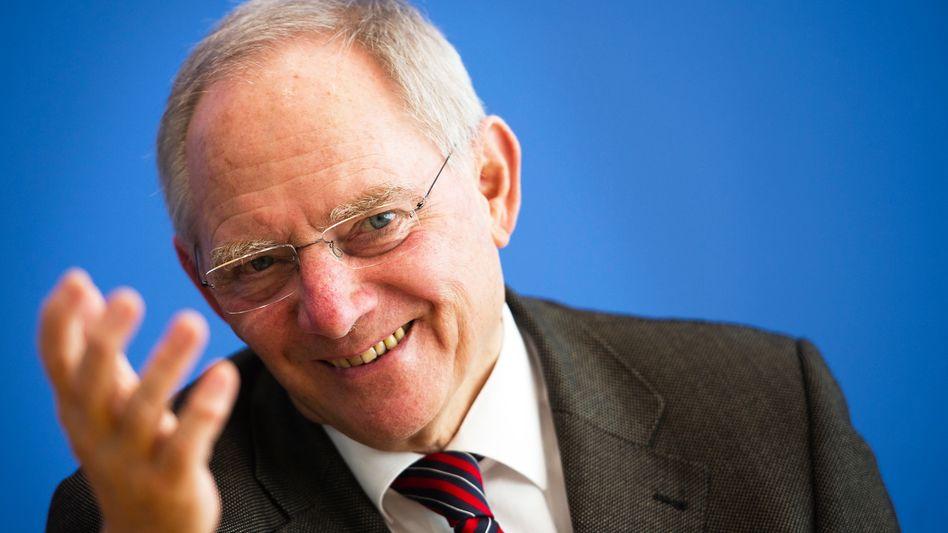 """""""Nicht nur Europa steht vor großen finanzpolitischen Herausforderungen."""": Bundesfinanzminister Wolfgang Schäuble während der IWF-Tagung"""