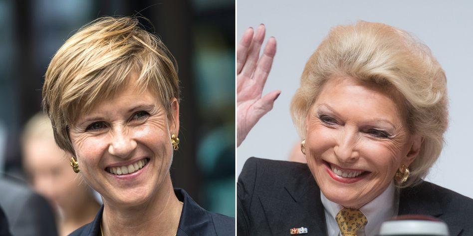 Grund zur Freude: Die Milliardärinnen Susanne Klatten (l.) und Maria-Elisabeth Schaeffler-Thumann kassieren Jahr für Jahr gigantische Dividendenzahlungen von BMW beziehungsweise Continental