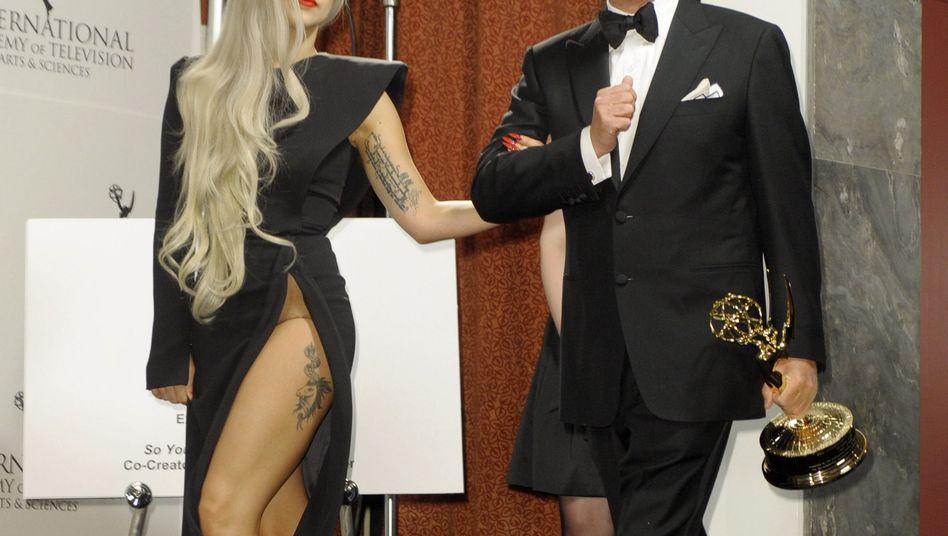 Lady Gaga und TV-Produzent Nigel Lythgoe: Idol trifft Idole-Schöpfer