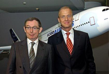 Heile Airbus-Welt: EADS-Doppelspitze Forgeard und Enders im März 2006