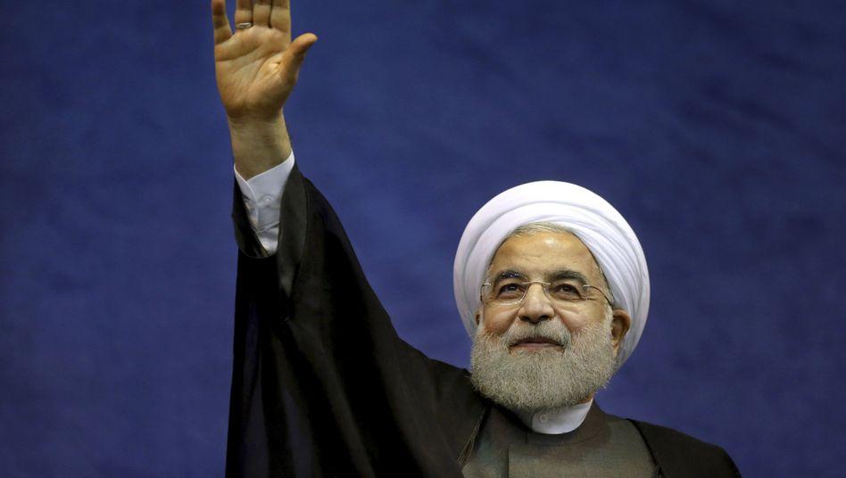 Der iranische Präsident Hassan Ruhani steht für einen Öffnungskurs des Landes