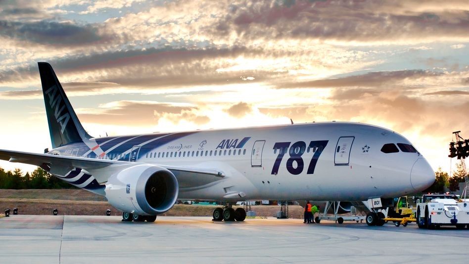 Am Boden: Boeing-Dreamliner der japanischen Fluglinie ANA