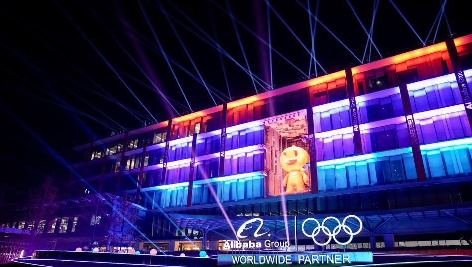 "Alibabas Hauptquartier am 11.11.2019 - an diesem Tag findet traditionell das Shopping-Event ""Singles Day"" statt"