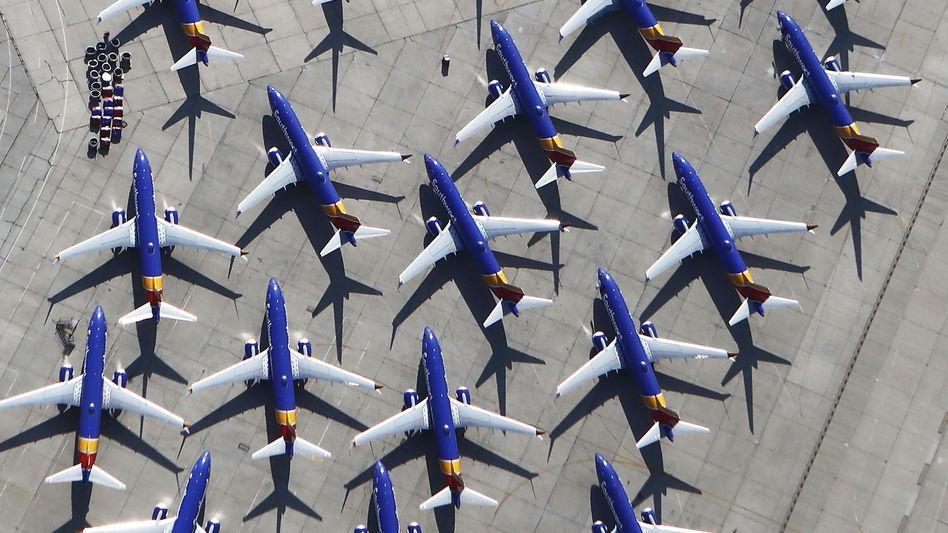 Geparkte 737 Max Maschinen in Kalifornien: Boeing leidet weiter unter der Krise