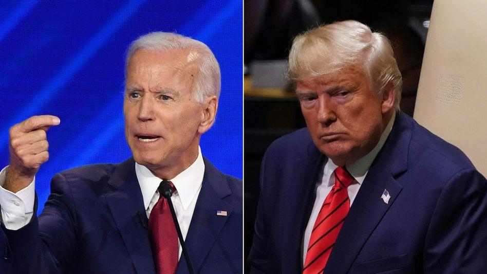 Machtwechsel mit Hindernissen: US-Präsident Donald Trump (r.) hat die zuständige Behörde GSA angewiesen, die Amtsübergabe an Joe Biden (l.) einzuleiten