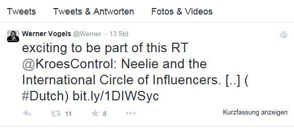 """Werner Vogels Tweet zu """"Neelie und die Moover und Shaker der Digitalwirtschaft"""""""