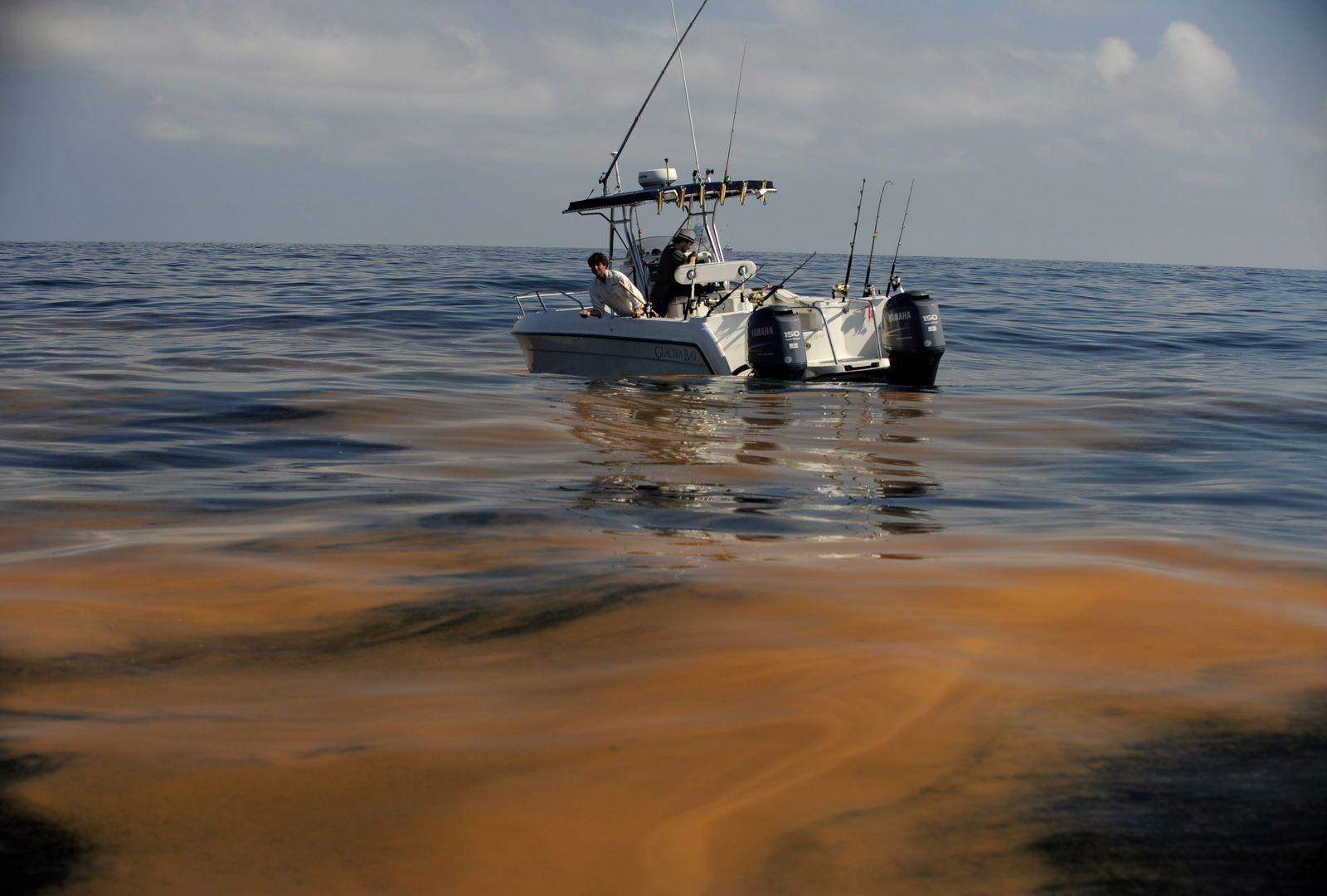 Ölpest im Golf von Mexiko / Fischer / Fischerboot