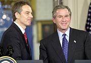 Bröckelt die Freundschaft? Bisher galten Tony Blair und George W. Bush als enge Partner