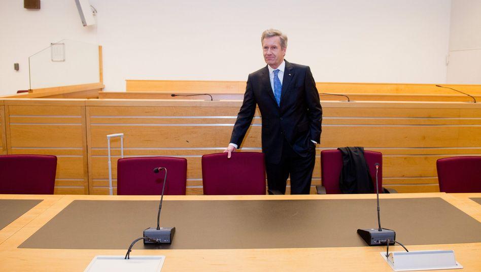Derzeit noch auf der Anklagebank: Ex-Bundespräsident Wulff