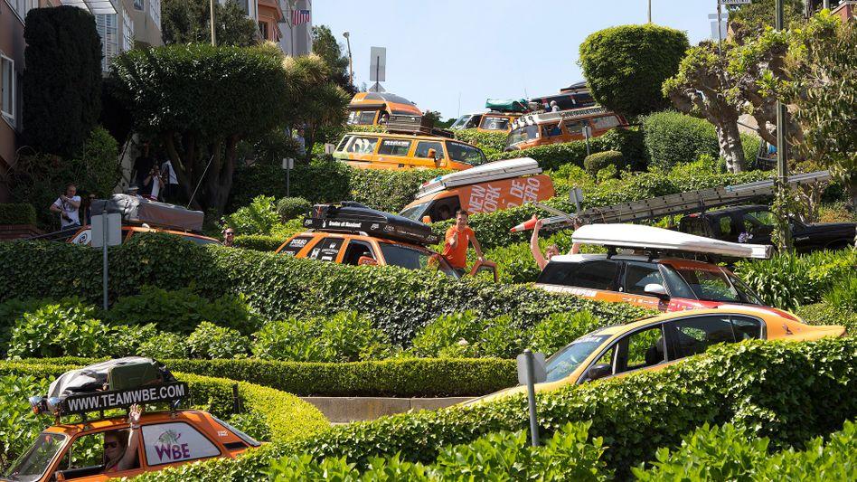Lombard Street in San Francisco: Die Suche nach Parkraum treibt in der Stadt skurille Blüten - zuweilen wird ein Parkplatz per App weiterverschachert