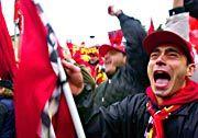 Ferrari-Fans jubeln
