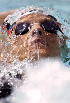 Durchatmen: Antje Buschschulte konnte in ihrem Vorlauf über 100 Meter Rücken überzeugen. Die Weltmeisterin gewann ihren Vorlauf und erreichte in 1:01,68 Minuten sicher das Halbfinale