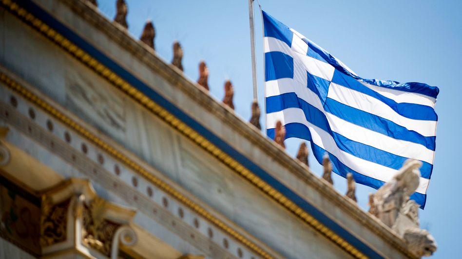 Athen (in der Nähe des Innenministeriums): Neue Euros für Griechenland in Sicht
