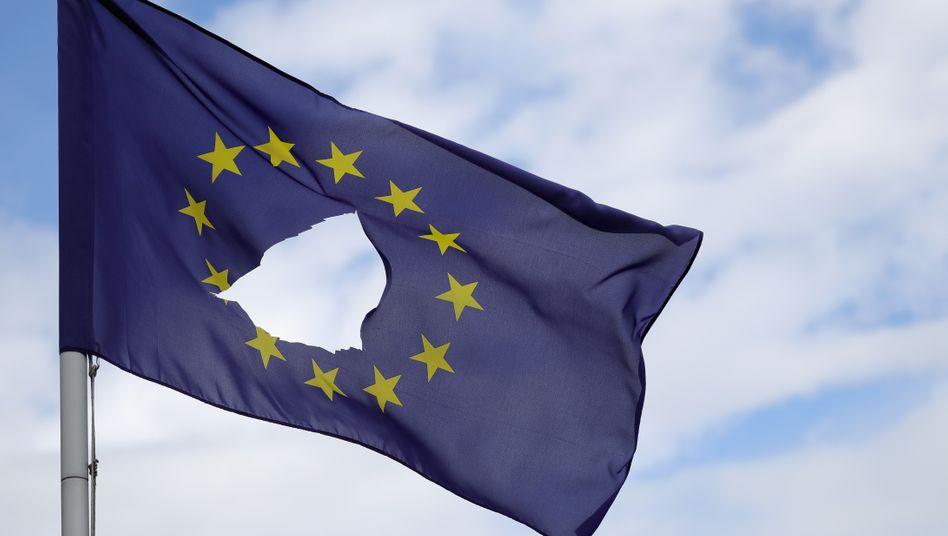 Sah schon besser aus: In der Europäischen Union geht es zurzeit an vielen Stellen ruppig zu .