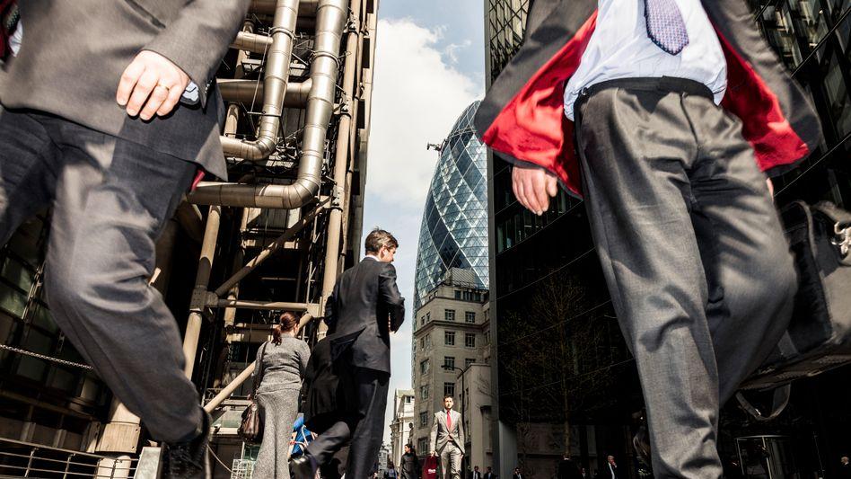 Grau in Grau: Londons Finanzviertel bezieht Position im der heißen Diskussion um einen möglichen Austritt Großbritanniens aus der EU