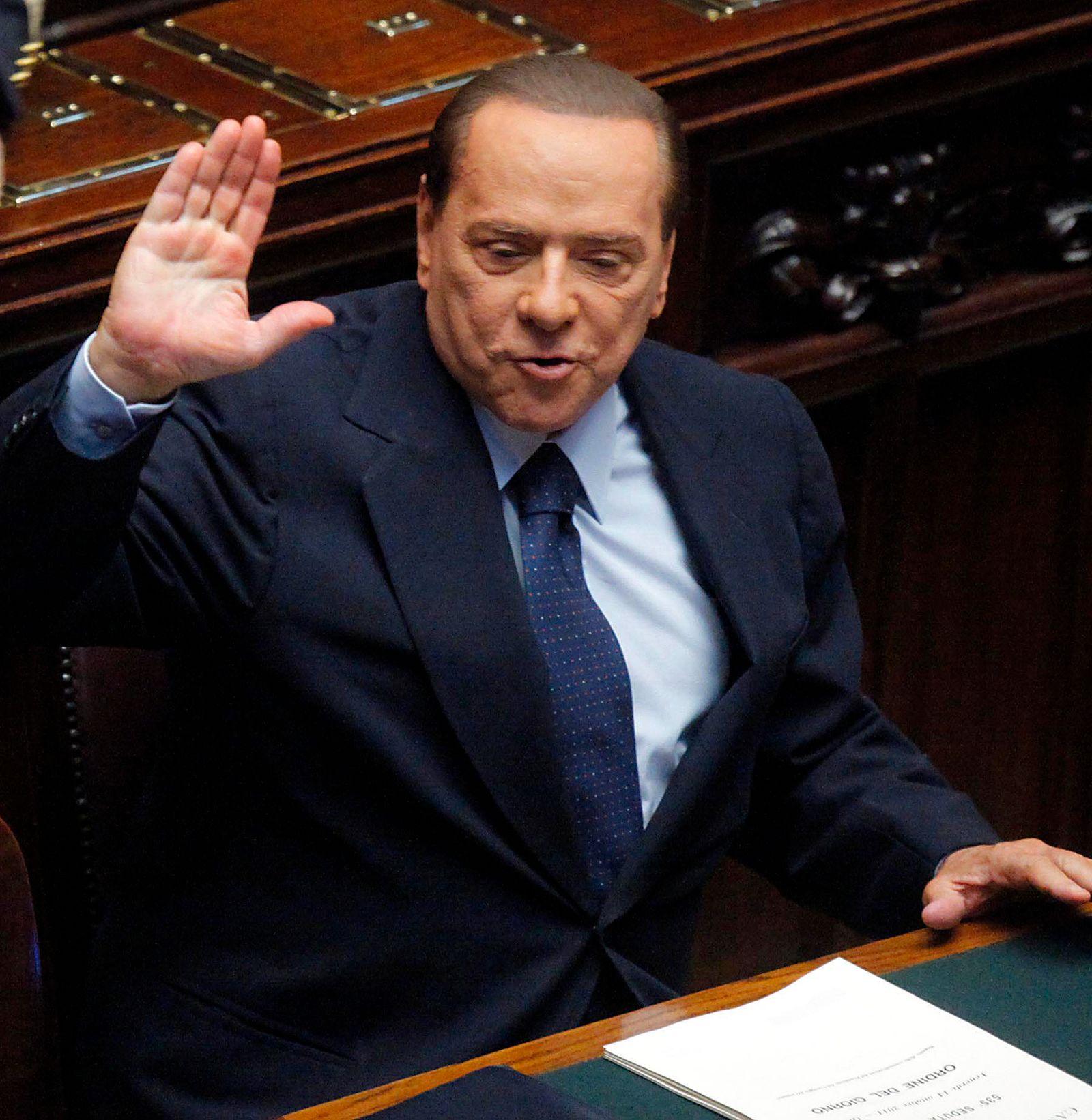 Berlusconi/ Vertrauensfrage