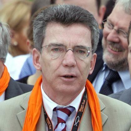 Ergraut: Kanzleramtsminister de Maiziere