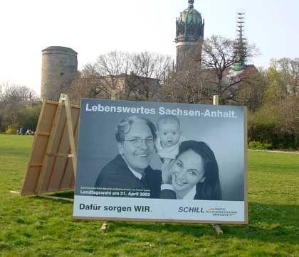 Umstritten: Wahlplakat für Ulrich Marseille